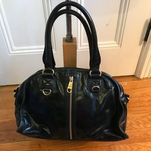 Badgley Mischka Black & Gold Vintage Bag